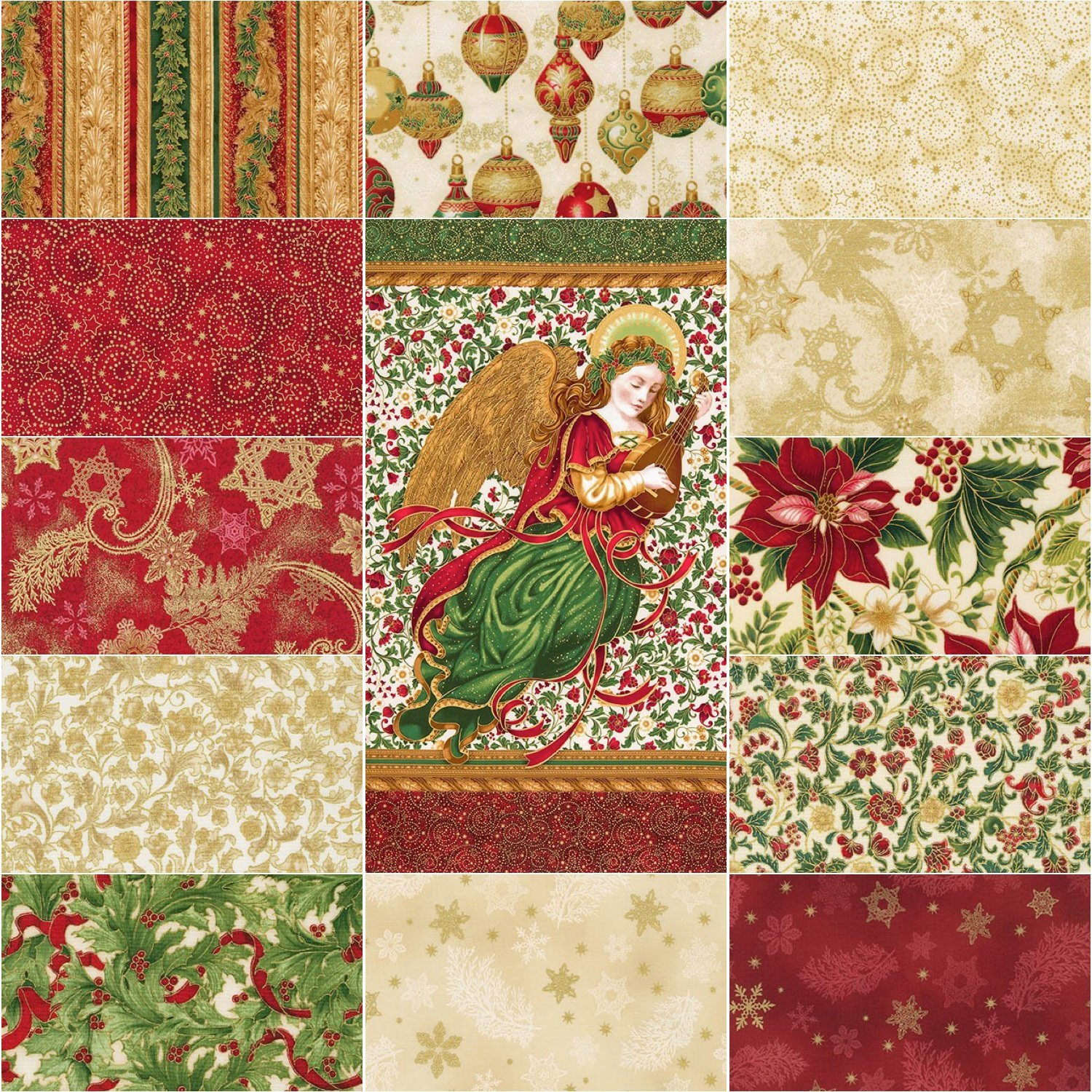 13 assorted Red Fat Quarters